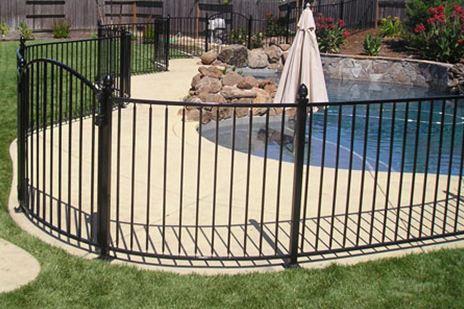 Oklahoma Wrought Iron Pool Fence